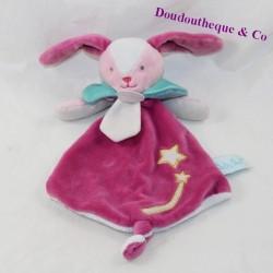 Doudou flat rabbit BABY NAT The purple comets stars 28 cm