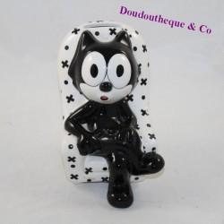Tirelire Felix the cat ceramic cat black and white 14 cm