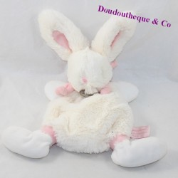 Doudou flat rabbit DOUDOU AND COMPAGNIE My Little Candy Pink 23 cm