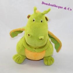 Dragon cub CARREBLANC Square White orange green