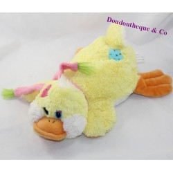 DUCK towel LOGITOYS yellow pink scarf 30 cm