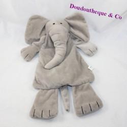 Doudou semi-flat elephant DIFRAX grey 34 cm