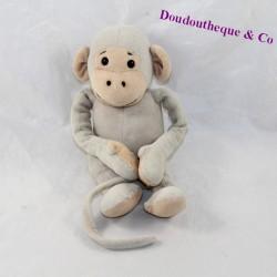 Naked grey Popi monkey 23 cm