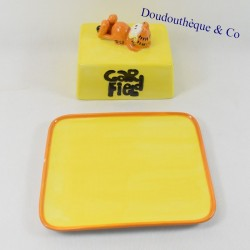 Beurrier cat PAWS ALL RIGHTS RESERVED Garfield ceramic yellow 18 cm