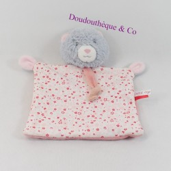 Bear flat blanket pink grey...