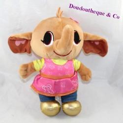 Peluche Sula elephant FISHER PRICE Mattel Bing pink dress 23 cm