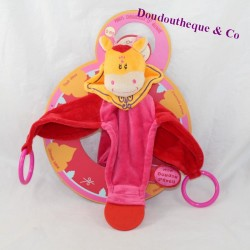 Doudou flat giraffe DOUDOU AND COMPAGNIE My orange pink awakening cuddly