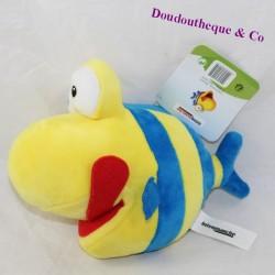 Peluche poisson INTERMARCHÉ jaune bleu