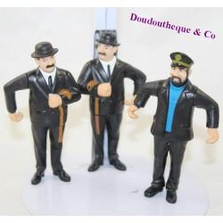 Lot of 3 figurines Tintin MCDONALD'S Dupond and Dupont, Captain Haddock Mcdo pvc 9 cm