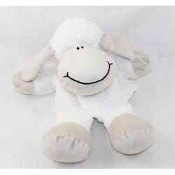 Doudou puppet sheep LILALU white beige Li La Lu 28 cm