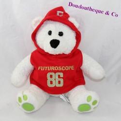 BEAR bear FUTUROSCOPE Red sweatshirt attraction park seated 22 cm