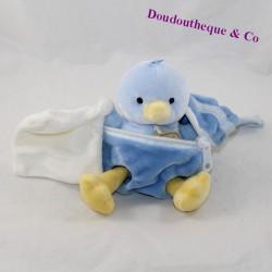 Doudou pañuelo Poussin BABY NAT' capa azul 20 cm