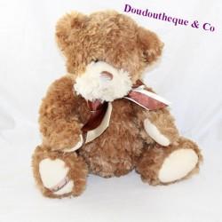 BuKOWSKI brown bear satin knots sitting 28 cm