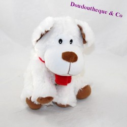 Skinned dog FIZZY white brown red scarf
