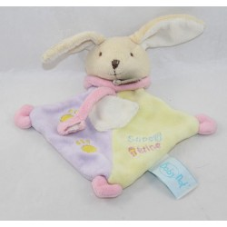 Doudou attaches rabbit nipple BABY NAT' Super yellow purple pink nipple 20 cm