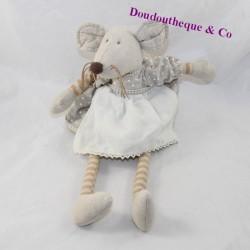 Peluche mouse THE GALLERIA dress apron linen