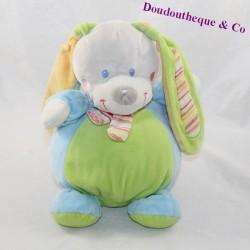 Musical rabbit peluche MOTS OF blue green scarf 23 cm