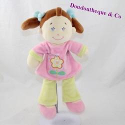 Doll doll pink yellow flower shirt 28 cm
