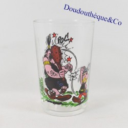 Asterix mustard glass and a...