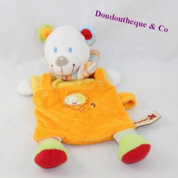 Doudou flat bear NICOTOY orange scarf