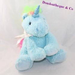 Plush unicorn MAX & SAX Carrefour bleu