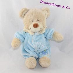Plush bear TEX BABY blue pajamas cloud