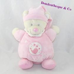 Doudou ball bear NICOTOY pink bird stars