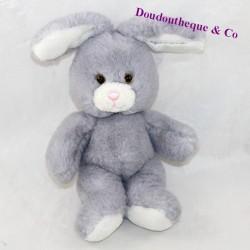 Plush rabbit GIPSY gray pink nose 21 cm