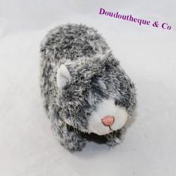 Small plush cat long hair gray
