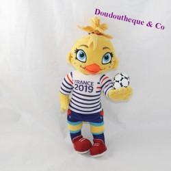Plush hen Ettie mascot FIFA World Cup 2019