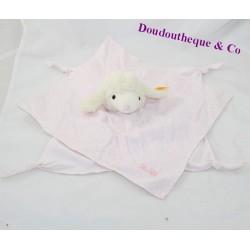 Doudou flat sheep STEIFF pink knots