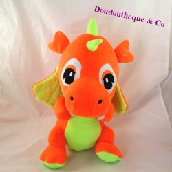 Plush dragon GIFI DIFFUSION orange green 37 cm
