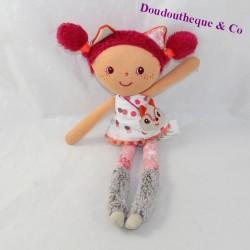 Doudou rag doll Alice LILLIPUTIENS cat