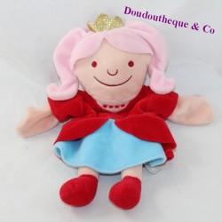 Doudou puppet princess HEMA golden crown 29 cm