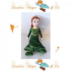 Peluche princesse Fiona DREAMWORK PORT AVENTURA Shrek robe verte 40 cm
