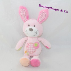 Doudou rabbit NICOTOY pink labels
