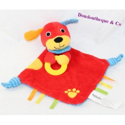 Doudou flat dog BRUIN Toys'r'us red blue