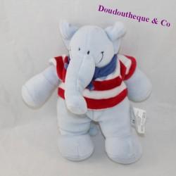 Plush elephant striped t-shirt