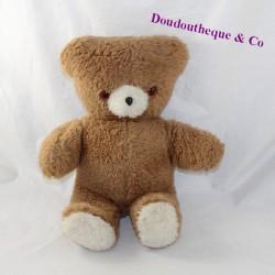 Plush brown vintage bear that pulls the tongue