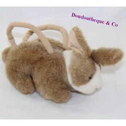 Plush bag rabbit FIZZY brown white 22 cm