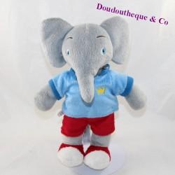 Musical plush elephant Babar LANSAY The adventures of Badou