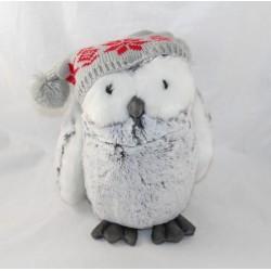 Plush owl GUND gray white...