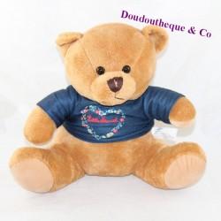 Teddy bear advertising stuffed ALANN MARKS DIFFUSION T-shirt Little Marcel