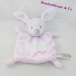 Doudou flat rabbit GRAIN OF WHEAT pink embroidery