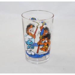 Glass Smurfs PEYO 1990...