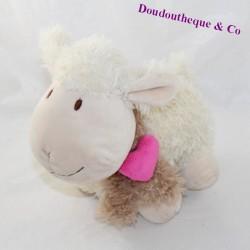 Plush sheep CASA long hair pink heart