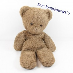 Plush vintage bear brown black plastic eyes 43 cm