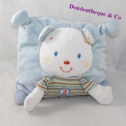 Doudou cushion bear NICOTOY blue stripes