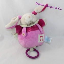Musical plush rabbit BABY NAT' Mêm' pacap