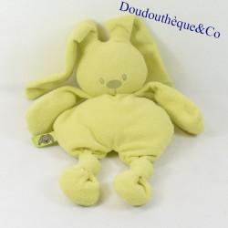 Doudou semi flat rabbit NATTOU green knots 30 cm